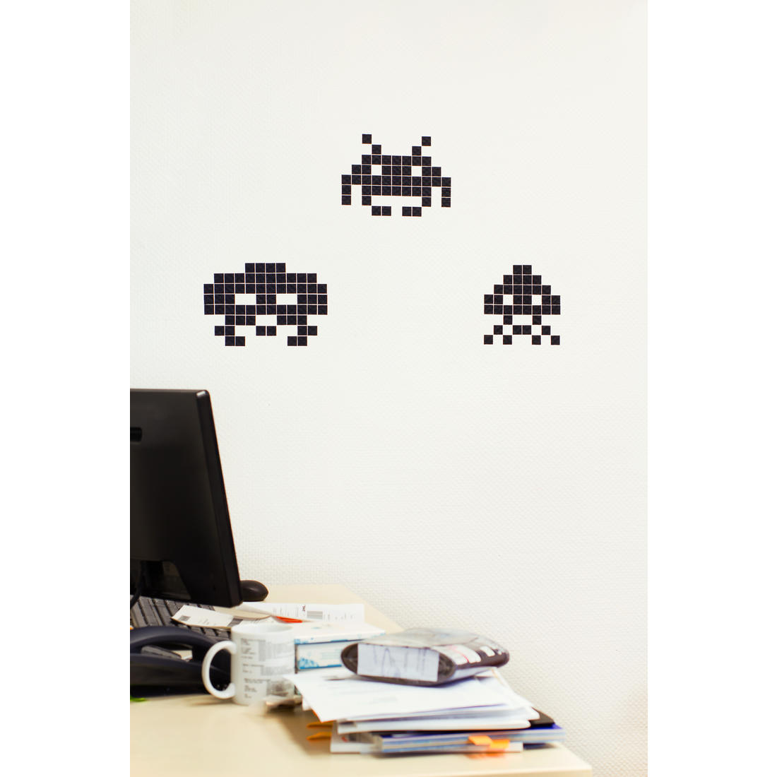 stickaz wall stickers space invaders getdigital space invaders wall decals nerdy with children