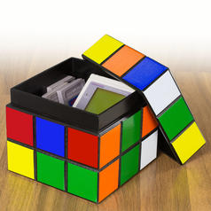 Magic Cube Wooden Box