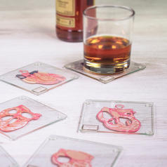 Heart Specimen Glass Coasters