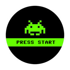 Geek Sticker Press Start