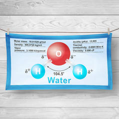 Dihydrogen Monoxide Beach and Bath Towel