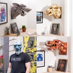 Game of Thrones Papercraft Trophies and Masks