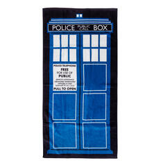 Police Call Box Beach and Bath Towel