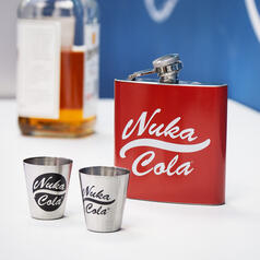 Fallout Nuka Cola Hip Flask with Metal Cups
