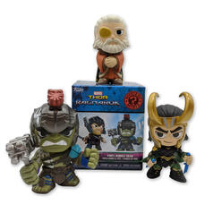 Funko Mystery Minis Marvel Thor Ragnarok Bobble-Head Collectible Figures