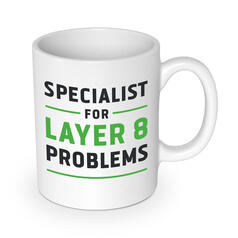 Specialist for Layer 8 Problems Mug