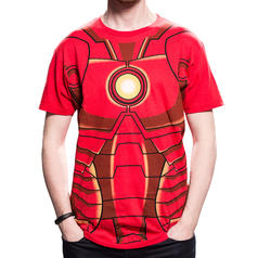 Iron Man Borstplaatje T-Shirt