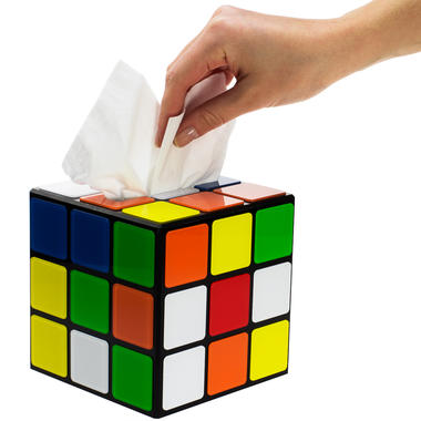 Rubik's Kubus Tissuebox uit The Big Bang Theory